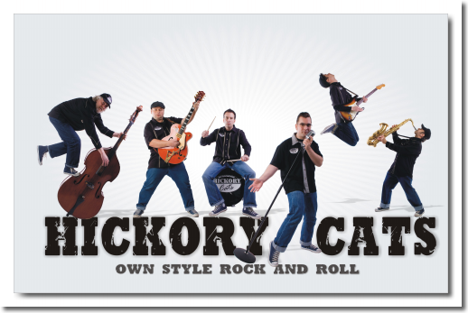 Hickory Cats Promotionfoto 1 mit Schrift